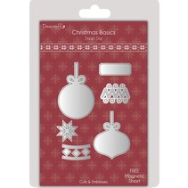 Punching and embossing template: Christmas ball
