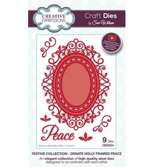 Creative Expressions Punching and embossing template: filigree decorative frame and corner