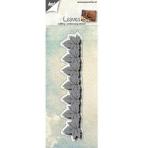 Stanz- und Prägeschablone: Bordüre mit Blätter