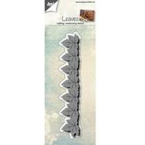 Stempling og prægning stencil: grænse med blade