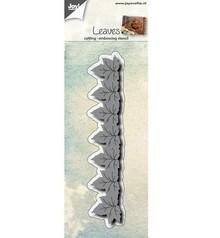 Joy!Crafts und JM Creation Stampaggio e goffratura stencil: confine con foglie