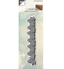 Joy!Crafts und JM Creation Stamping and embossing stencil: border with leaves