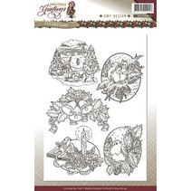 Transparent stamps, Christmas themes