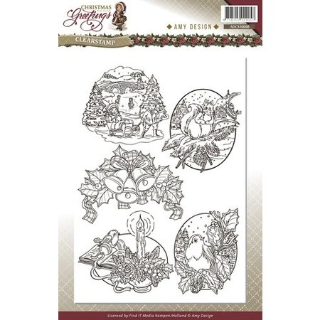 Amy Design Transparent stamps, Christmas themes