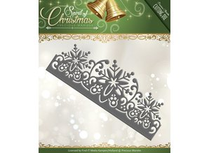 Precious Marieke Embossing and cutting mat, border with snowflake