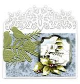 Precious Marieke Goffratura e tappetino di taglio, confine con il fiocco di neve