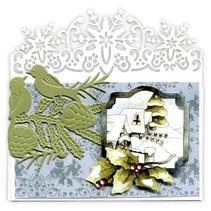Präge- und Schneideschablone, Bordüre mit Schneeflocke