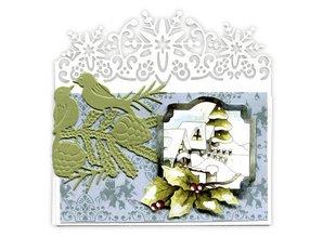 Precious Marieke Präge- und Schneideschablone, Bordüre mit Schneeflocke