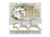 Precious Marieke Punching and embossing template: 3 Reindeers