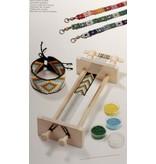 BASTELZUBEHÖR / CRAFT ACCESSORIES Perlenwebrahmen, aus Holz