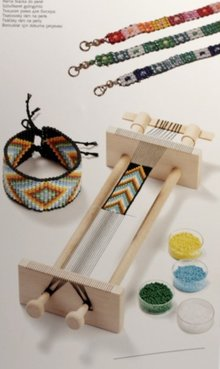 BASTELZUBEHÖR / CRAFT ACCESSORIES Beadweaving, legno