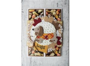 Marianne Design Punching and embossing template: cute dachshund with Accessories