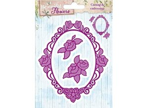 Studio Light Stamping and embossing stencil: roses decorative frame and 2 roses