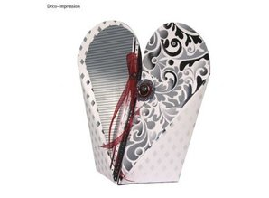 Dekoration Schachtel Gestalten / Boxe ... Template, heart box