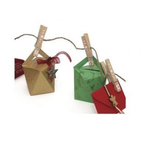 Dekoration Schachtel Gestalten / Boxe ... Schablone, Kubus, Schachtel ca. 9 cm hoch x 7 cm breit.