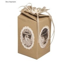 Template, gift box, about 10 cm high, 6 cm wide