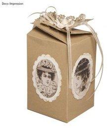 Dekoration Schachtel Gestalten / Boxe ... Plantilla, caja de regalo, de unos 10 cm de alto, 6 cm de ancho