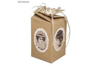 Dekoration Schachtel Gestalten / Boxe ... Template, gift box, about 10 cm high, 6 cm wide