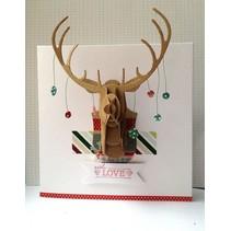 Cutting dies Decorative, 3D reindeer Buste