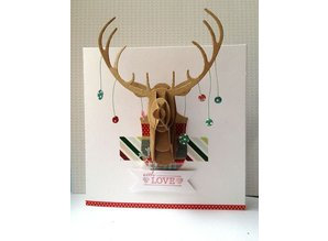 X-Cut / Docrafts Cutting dies Decorative, 3D reindeer Buste