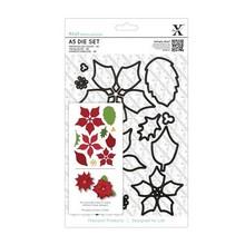 X-Cut / Docrafts Troqueles de corte decorativo, flor de pascua