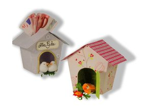 Dekoration Schachtel Gestalten / Boxe ... Skabelon, birdhouse