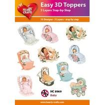 10 diseños diferentes del bebé 3D