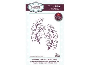 Creative Expressions Punching and embossing template: Heart Spray