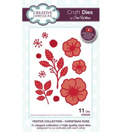 Creative Expressions punching and embossing template: Christmas Rose