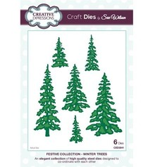 Creative Expressions Punching and embossing template: trees