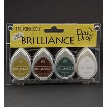 Brilliance Dew Drop Inkt, 4-kleuren set