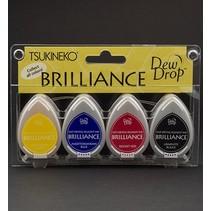 Brilliance Dew Drop Ink, 4-farve sæt