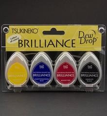 FARBE / INK / CHALKS ... Brilliance Dew Drop Ink, 4-farben-Set