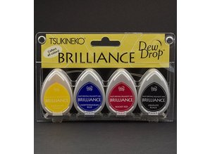 FARBE / INK / CHALKS ... Brilliance Dew Drop Ink, 4-color set