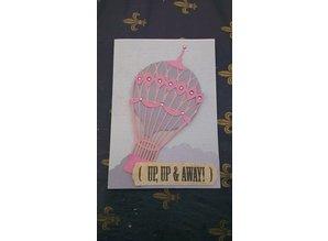 X-Cut / Docrafts XCut A5, Bigz Die Set for 3D image design, hot air balloon vintage