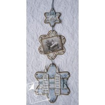 Gioia Crafts, di taglio e goffratura stencil, 3 stelle