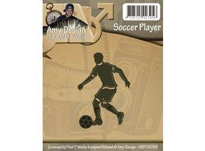 Amy Design Punzonado y estampado en relieve plantillas: futbolista