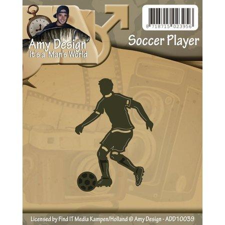 Amy Design Stansning og prægning skabeloner: Fodboldspiller