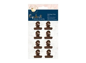 Embellishments / Verzierungen 8 clips de color cobre