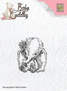Nellie snellen sellos transparentes, elefante del bebé