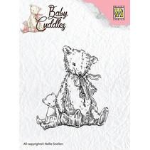 Transparentes sellos del bebé Cuddles - osos de peluche