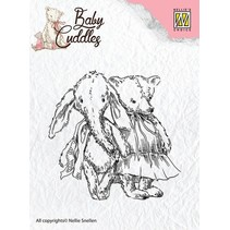 Gennemsigtige frimærker Baby Cuddles Baby, venner