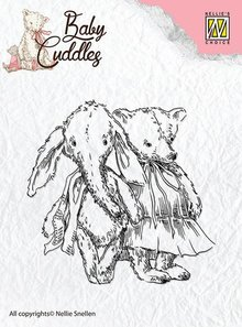 Nellie snellen Transparent stamps Baby Cuddles Baby, friends