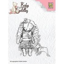 sellos transparentes bebé abrazos bebé, princesa conejo