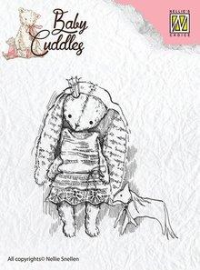 Nellie snellen sellos transparentes bebé abrazos bebé, princesa conejo