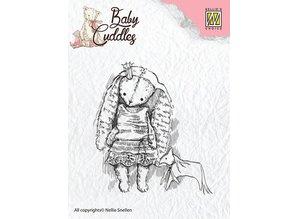 Nellie snellen Gennemsigtige frimærker Baby Cuddles Baby, Prinsesse Kanin