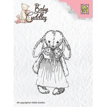 Transparante stempels van de baby Knuffels Baby, snoezige meisje