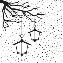 embossing Präge Folder Prægning mapper med lanterne