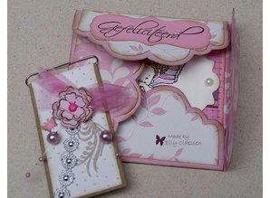 Dutch DooBaDoo A4 template: Envelop style Scallop
