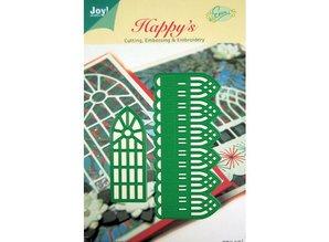 Joy!Crafts und JM Creation Skæring og prægning stencils, dekorative grænsen og vinduer